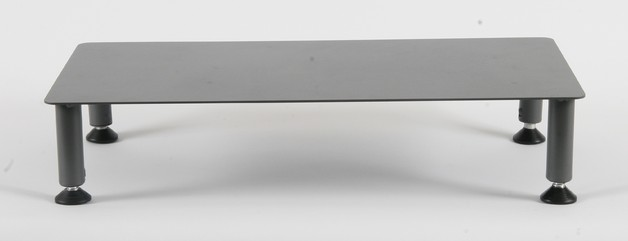 Fluteline Large Low Monitor Stand Metal - Charcoal