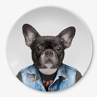 Wild Dining: Ceramic Dinner Plate - Dog (23cm) image