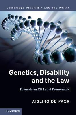 Cambridge Disability Law and Policy Series by Aisling de Paor