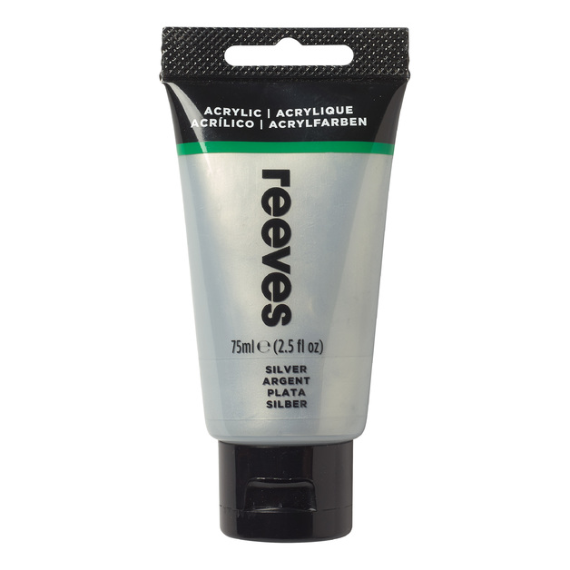 Reeves Fine Acrylic - Silver (75ml)