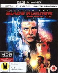Blade Runner on Blu-ray, UHD Blu-ray