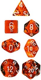 Chessex Translucent Polyhedral Dice Set - Orange