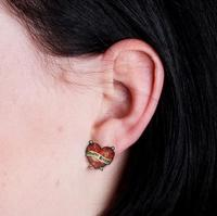 Crafty B*tch Heart Stud Earrings