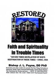 Restored Faith in Troubled Times by J L Payne image