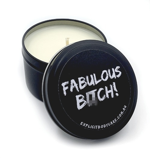 Explicit Bodycare Soy Candle - Fabulous B**ch