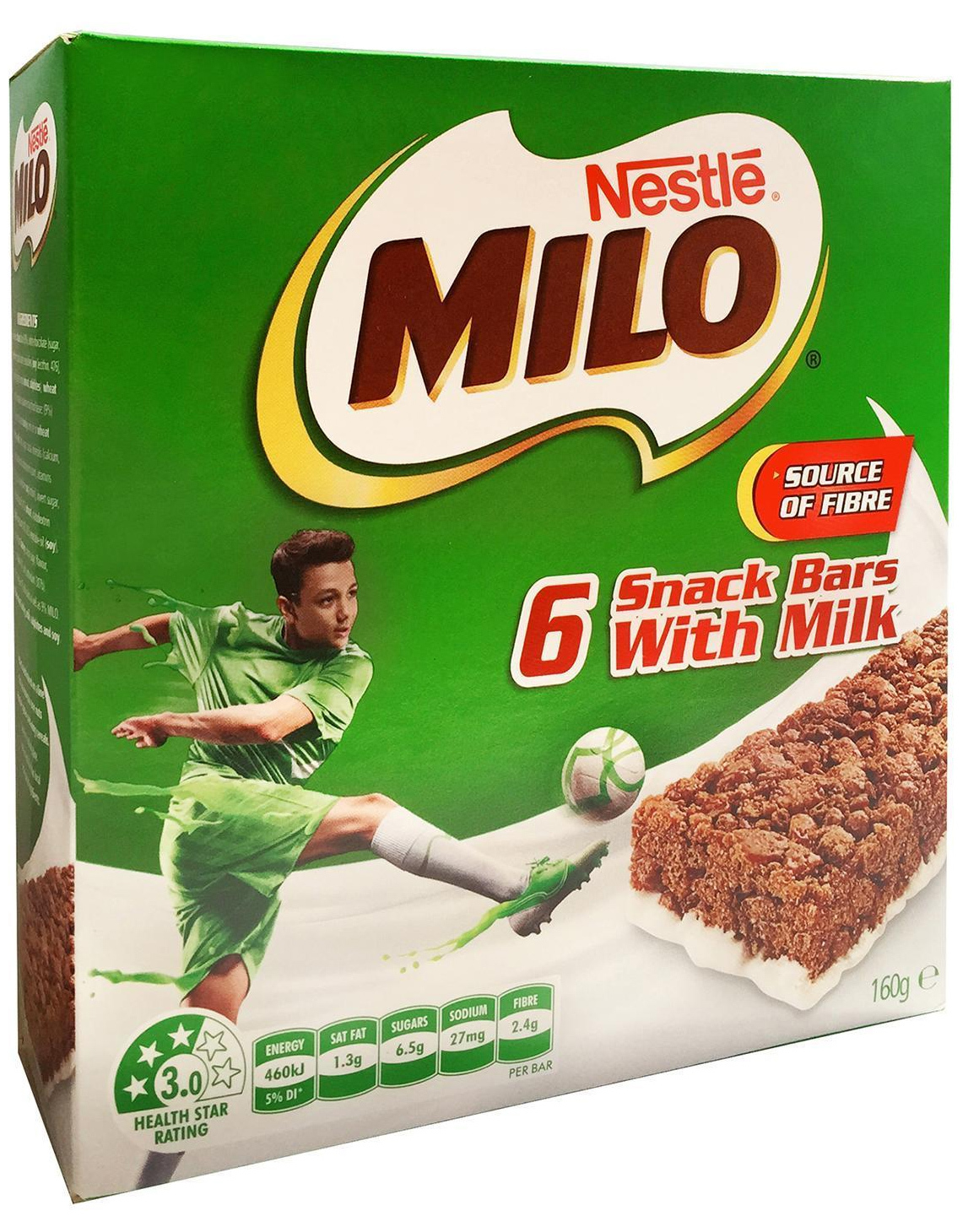 MILO Snack Bars With Milk (36 Bars) image