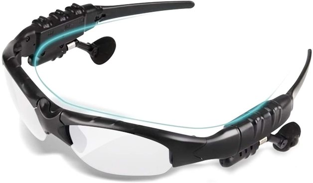 Stereo Headset Sunglasses Bluetooth: 4.1 - White/Clear