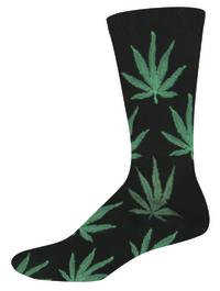 Socksmith: Men's Pot Crew Socks - Black