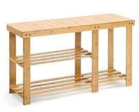 Ovela: Bamboo Shoe Bench