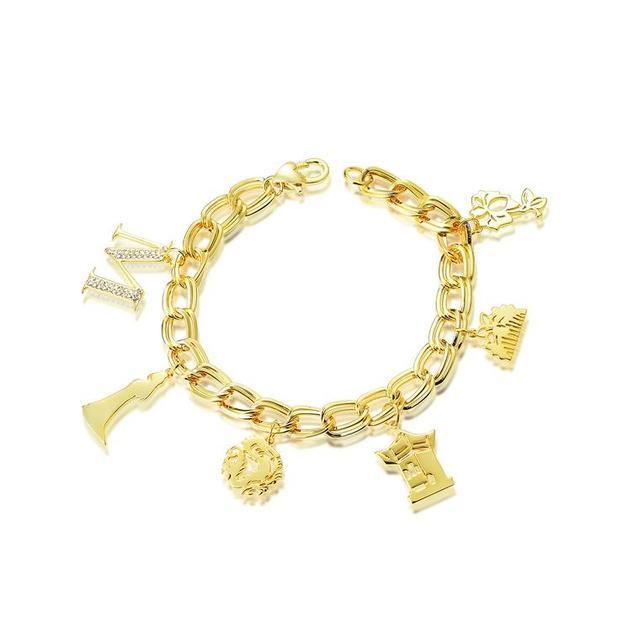 Disney Couture Princess Mulan Charm Bracelet - Yellow Gold