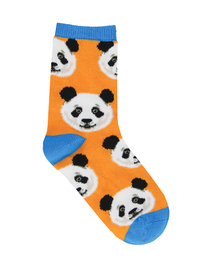 Kid's (7-10 Years) Pandawesome Crew Socks - Orange