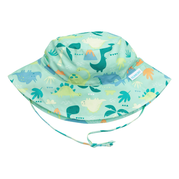 Bumkins: Sun Hat - Green Dinosaur/Medium