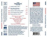 Vocal and Chamber Works by Virgil Thomson