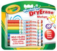 8 Washable Dry Erase Skinny Markers - Crayola