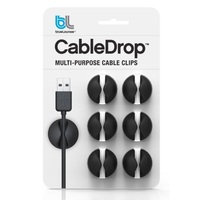 Bluelounge CableDrop Cable Clips - Black