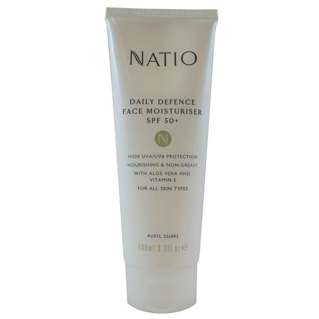 Natio Daily Defence Face Moisturiser SPF50+ (100ml)