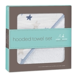 Aden + Anais: Muslin-Backed Hooded Towel Set - Rock Star