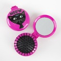 Natural Life: Compact Brush Mirror - Meow Cat
