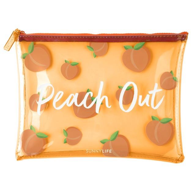 Sunnylife: See-Thru Pouch - Peach