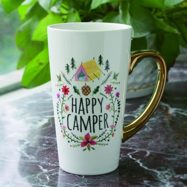 Natural Life: Latte Mug - Happy Camper