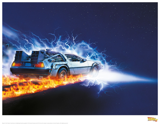 Back to the Future: Premium Art Print - Delorean #2