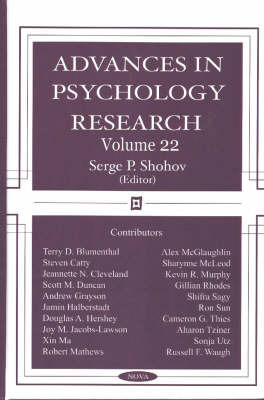 Advances in Psychology Research: v. 22 image