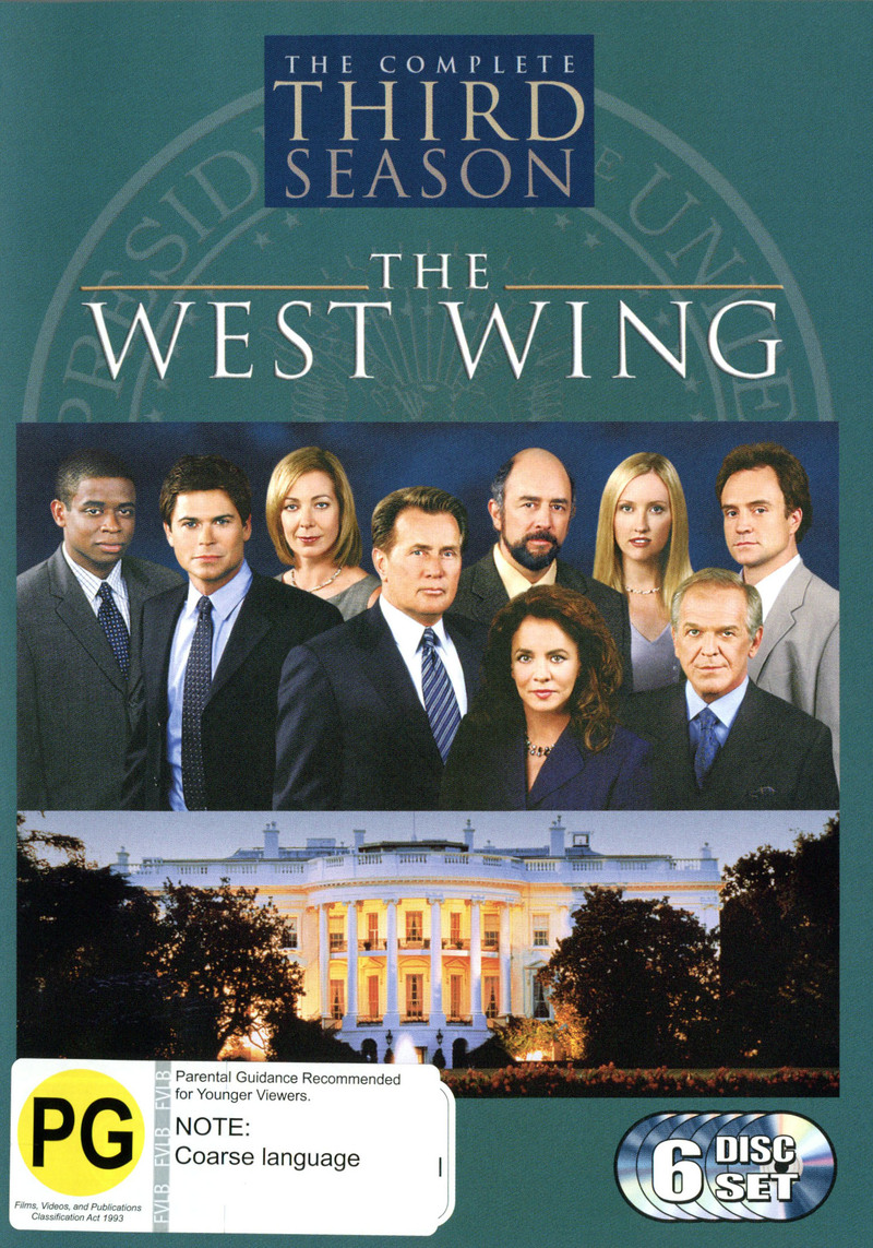 The West Wing - Complete Third Season (6 Disc Box Set) on DVD image