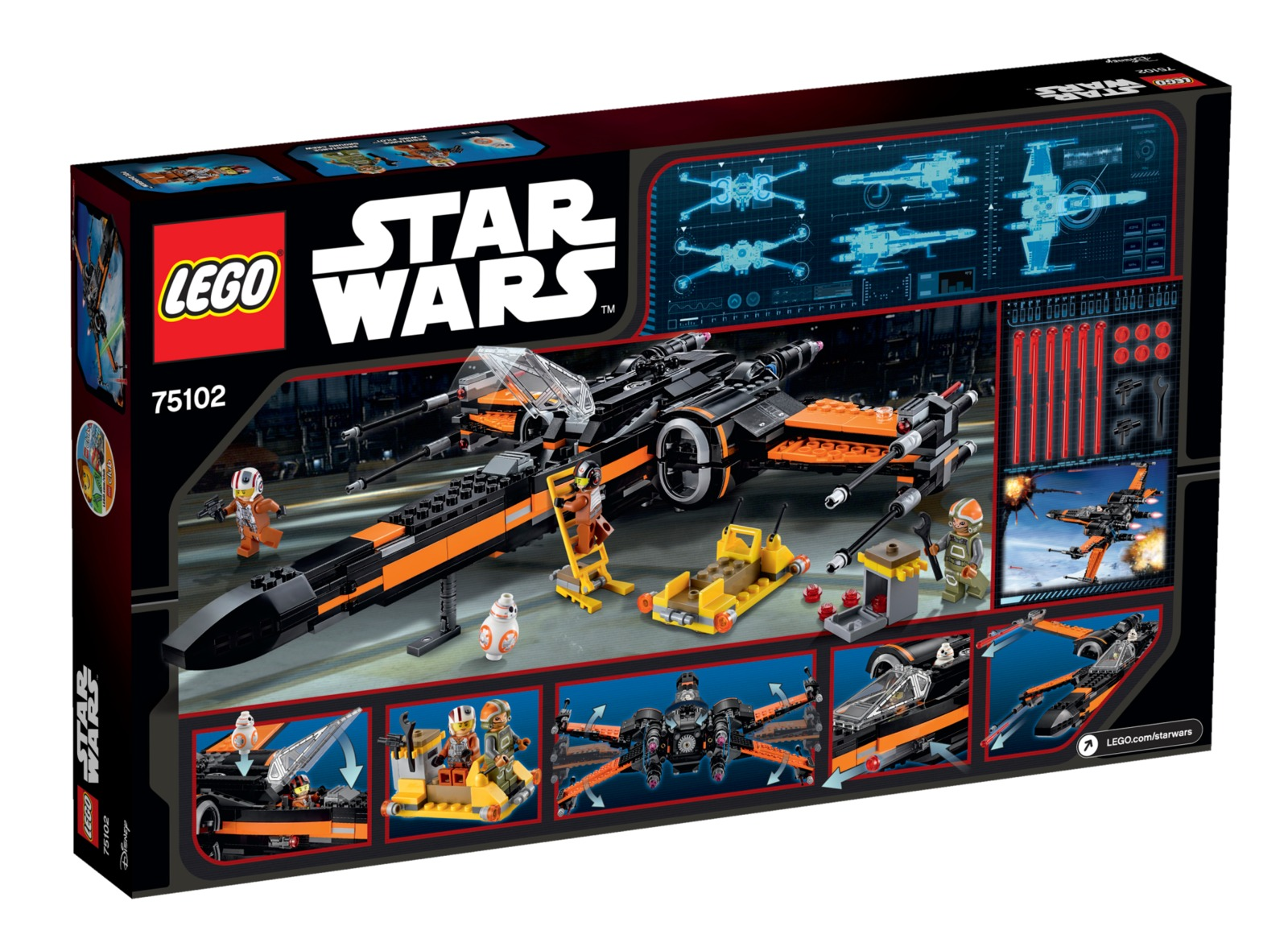 LEGO Star Wars: Poe's X-Wing Starfighter (75102) image