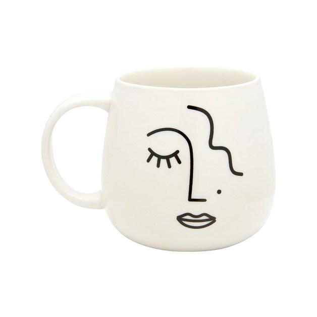 Sass & Belle: Abstract Face Mug