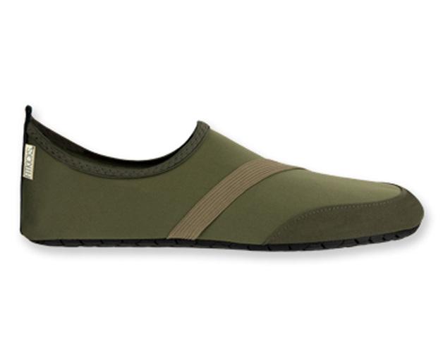 Fitkicks: Mens Foldable Footwear - Green (Medium)