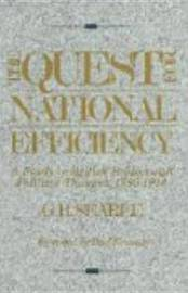 The Quest For National Efficiency by G.R. Searle image