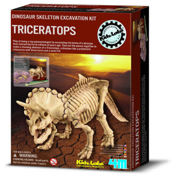 4M: Excavation Kits Triceratops Skeleton
