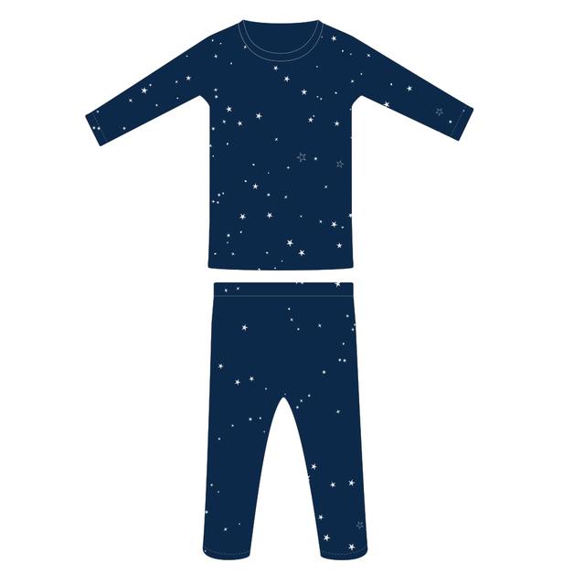 Woolbabe: Merino/Organic Cotton Pyjamas Tekapo Stars - 1 Year