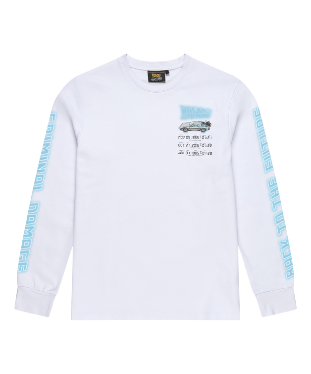 Criminal Damage: Time Code Long Sleeve Top (White) - L