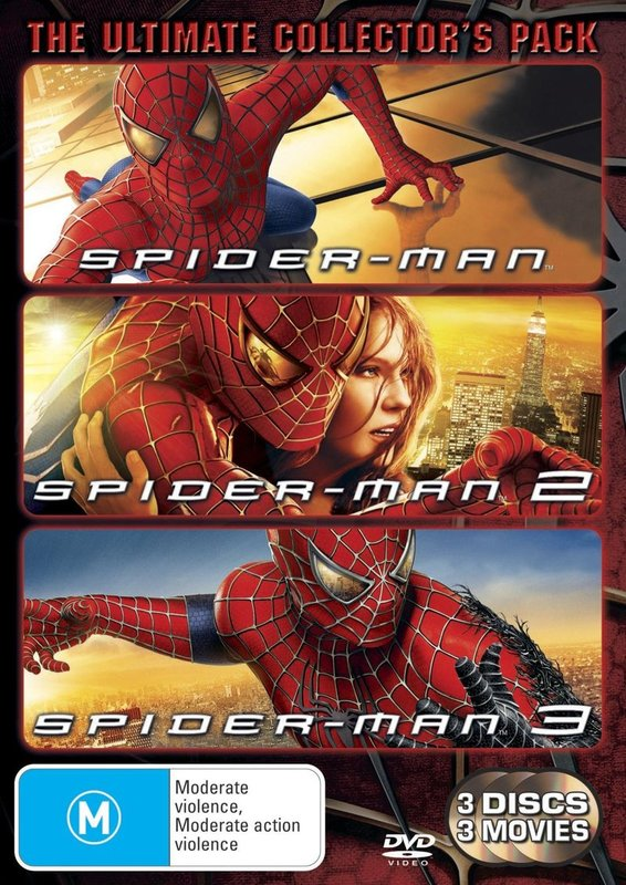 The Spider-Man DVD Trilogy on DVD