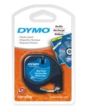 Dymo LetraTag Label Tape - 4m (Black on Blue)
