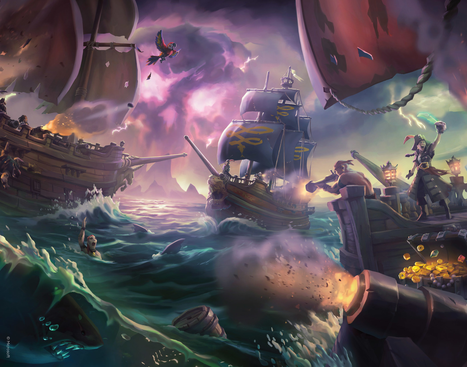 Sea of Thieves - Premium Art Print - Battles at Sea image