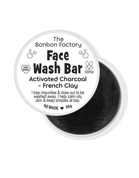 The Bonbon Factory - Charcoal & Clay Facial Bar (50g) image