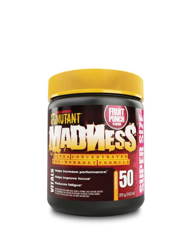 Mutant Madness Pre-Workout - Fruit Punch (375g)