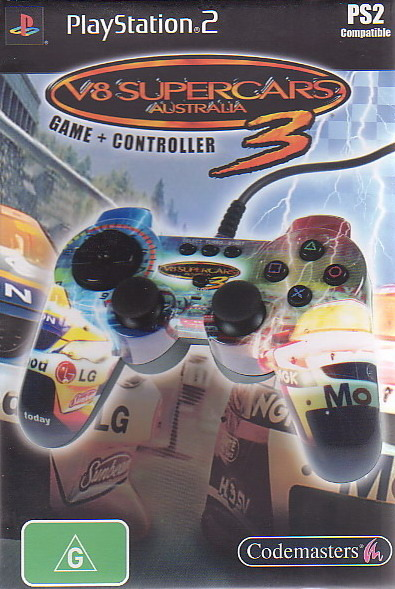 V8 Supercars 3 + Controller for PlayStation 2
