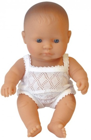 Miniland: Anatomically Correct Baby Doll - Caucasian Girl (21cm)