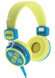Moki Kids Safe Headphones - Yellow/Blue