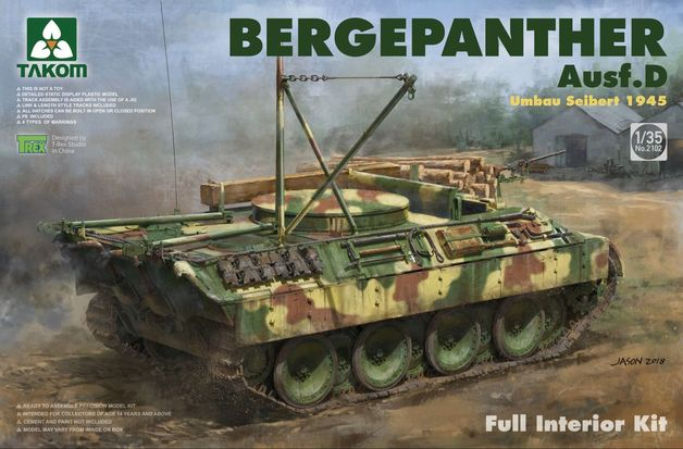 Takom: 1/35 Bergepanther Ausf. D Umbau Seibert 1945 Model Kit