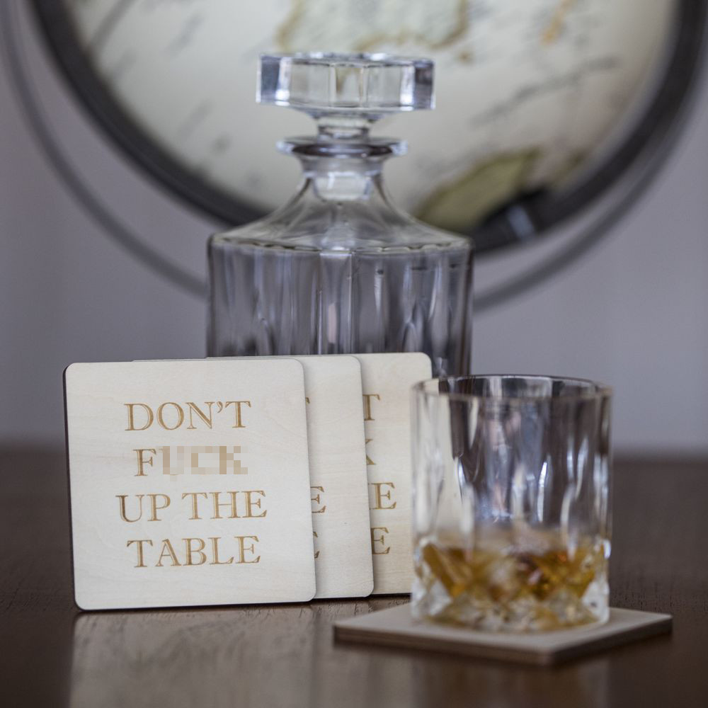 Don't F**k up The Table Coasters image