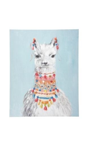 Luca Llama Canvas Print (80x100cm)