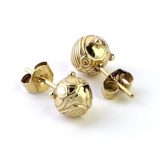 The Carat Shop: Official Harry Potter Golden Snitch Stud Earrings