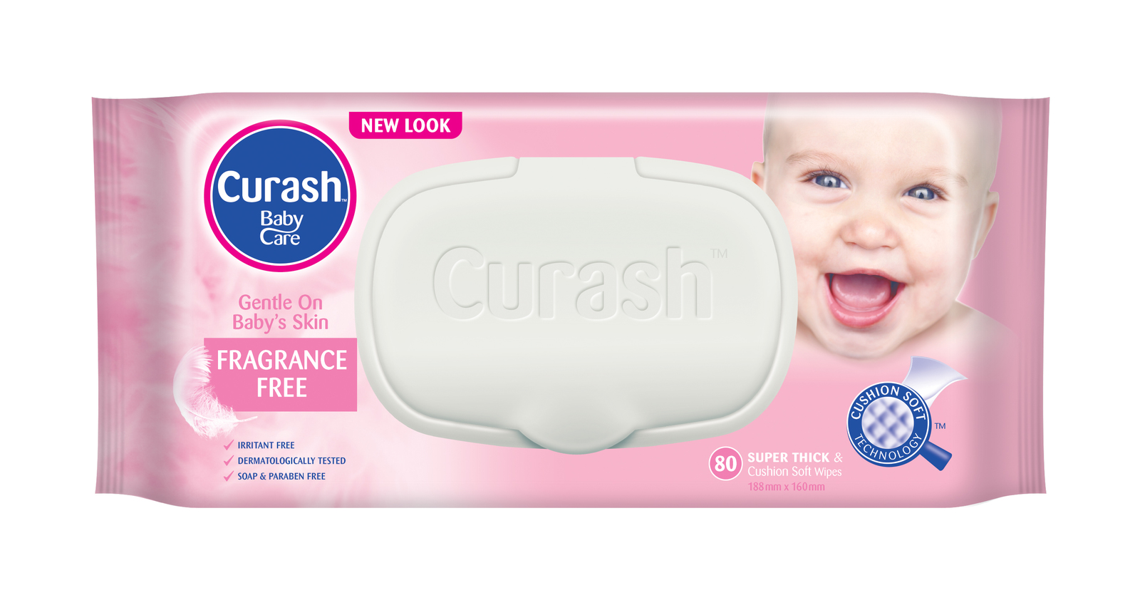 Curash Fragrance Free Wipes 80's image