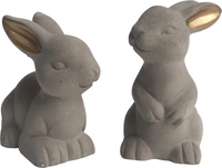Bunnies with Gold Ears (Set of 2)