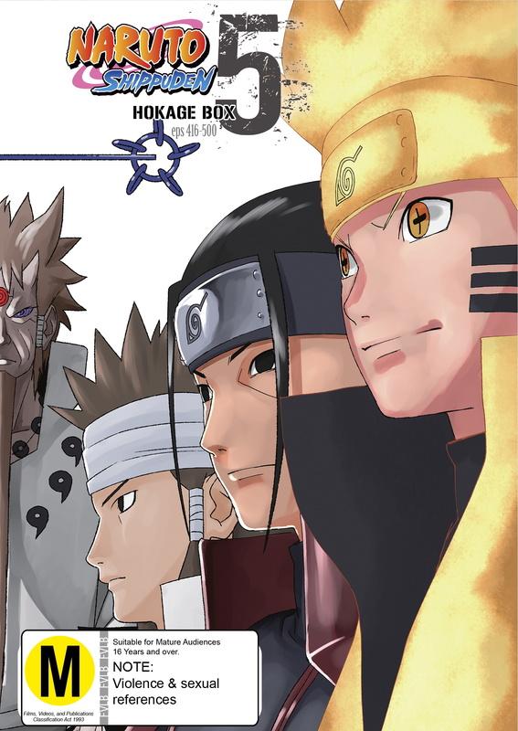 Naruto Shippuden Hokage Box 5 (eps 416-500) on DVD
