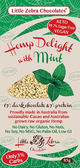 Little Zebra Chocolates: Hemp Delight with Mint